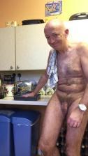 Martin B. tidying the kitchen.